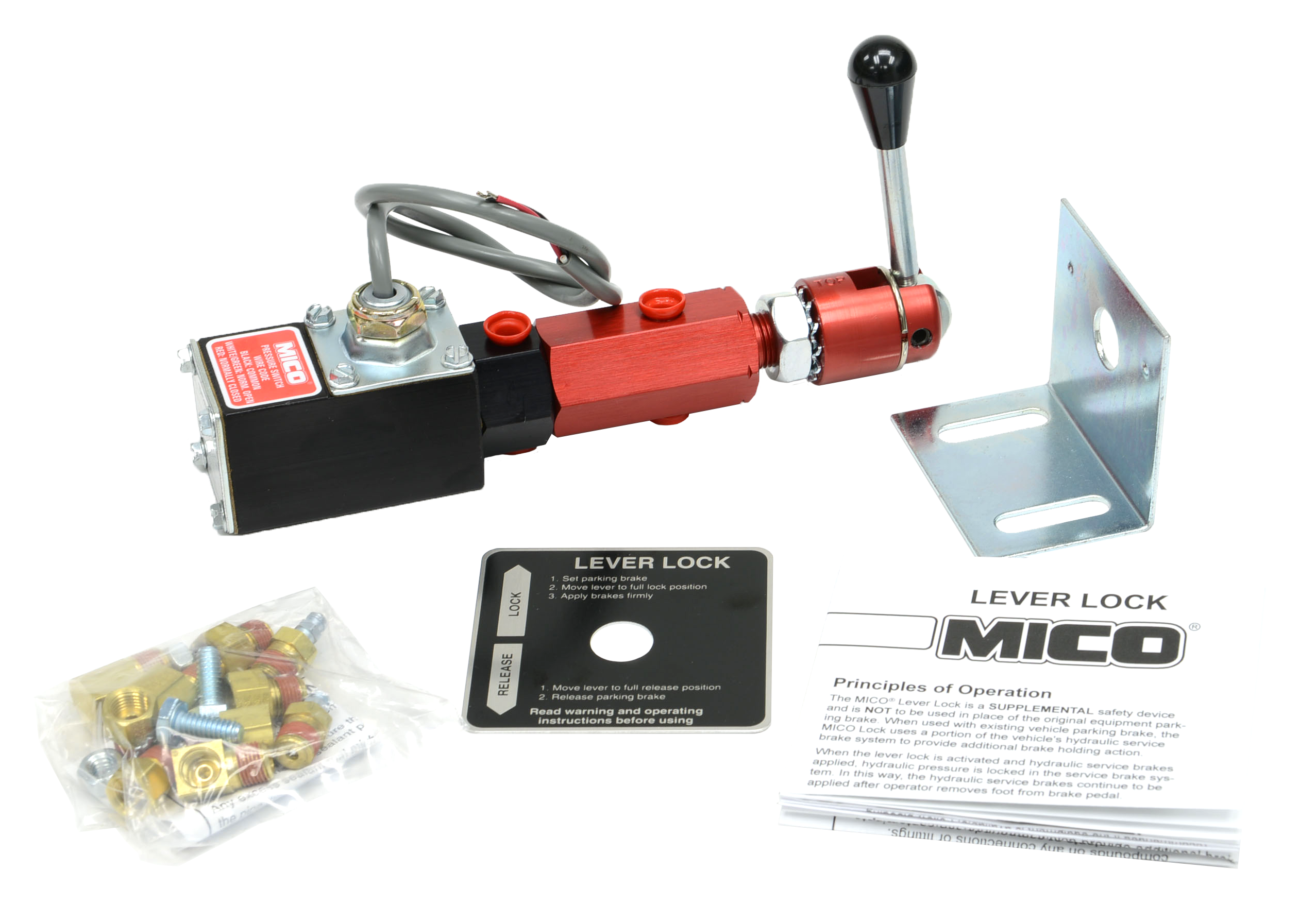 Hydraulic Lever Lock Brake Control : Lever lock brake fluid mico inc